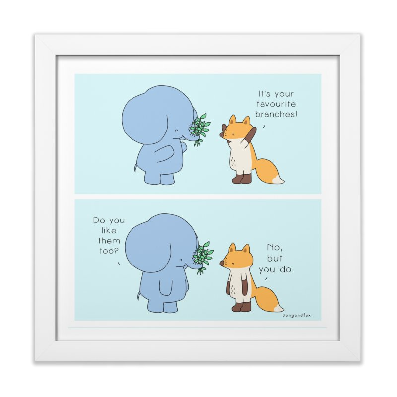 I Share Your Happiness Home Framed Fine Art Print by Jangandfox's Artist Shop
