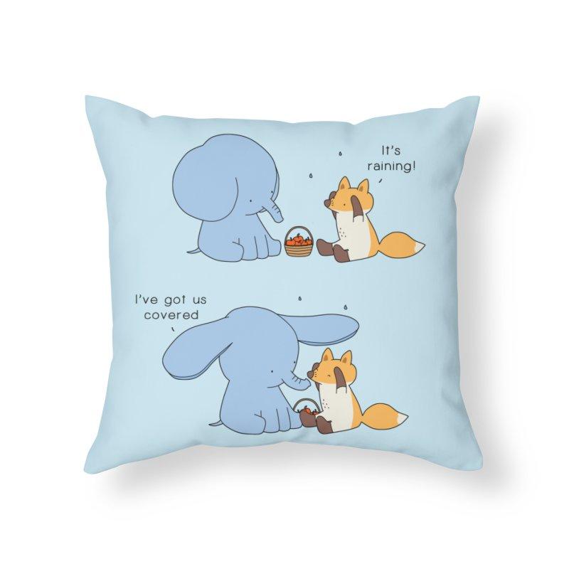 Got Us Covered Home Throw Pillow by Jangandfox's Artist Shop