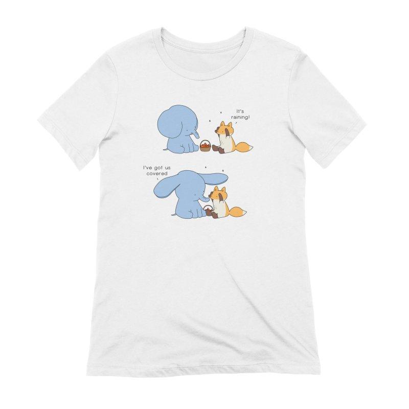 Got Us Covered Women's Extra Soft T-Shirt by Jangandfox's Artist Shop