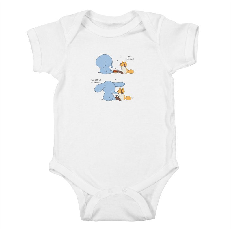 Got Us Covered Kids Baby Bodysuit by Jangandfox's Artist Shop
