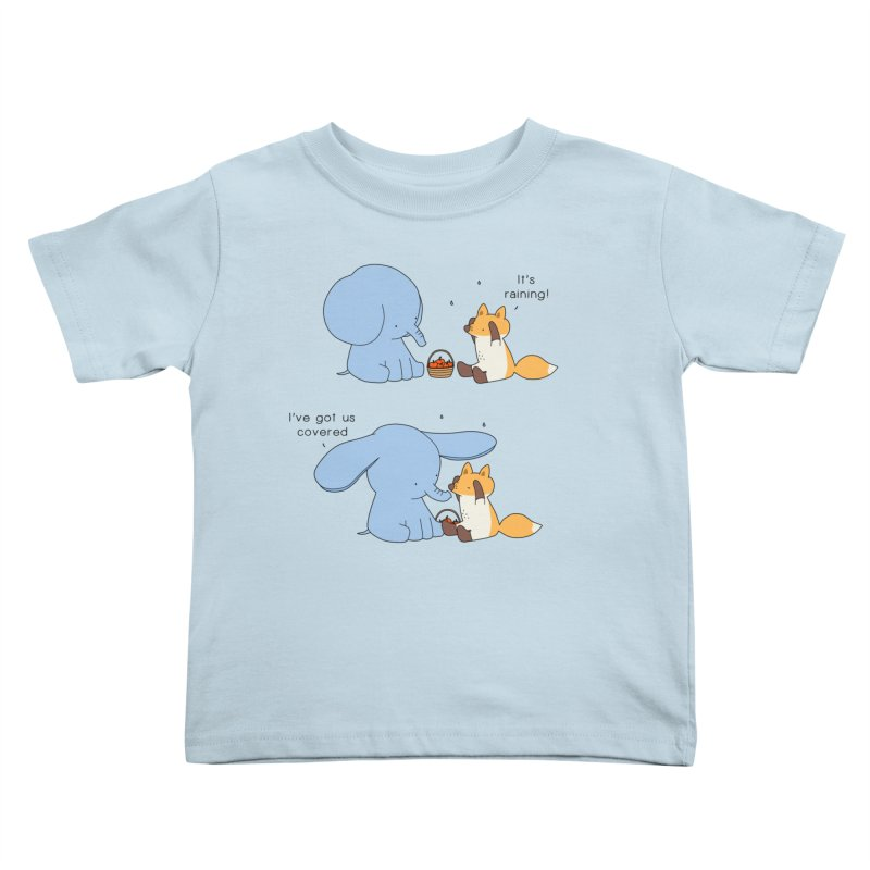 Got Us Covered Kids Toddler T-Shirt by Jangandfox's Artist Shop