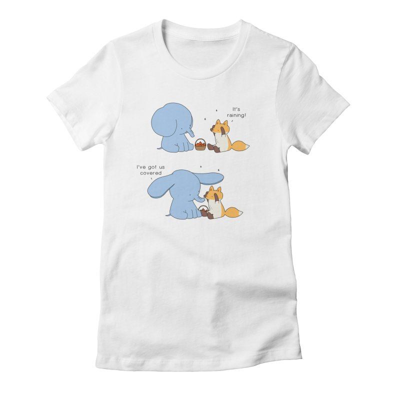 Got Us Covered Women's Fitted T-Shirt by Jangandfox's Artist Shop