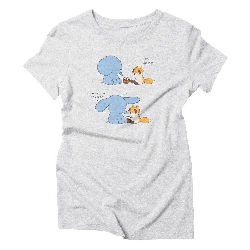 Got Us Covered Women's Triblend T-Shirt by Jangandfox's Artist Shop