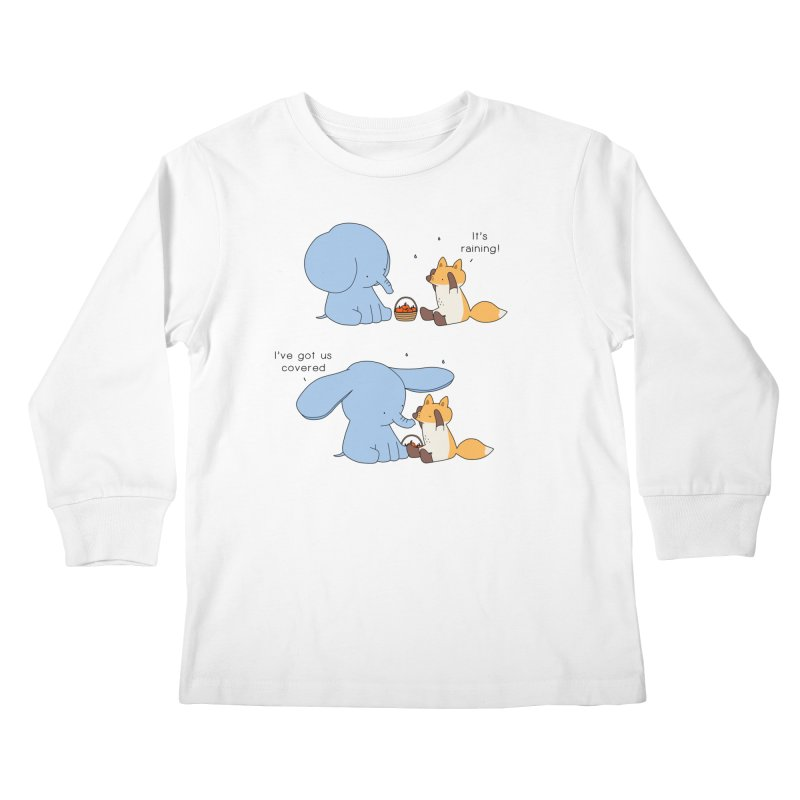 Got Us Covered Kids Longsleeve T-Shirt by Jangandfox's Artist Shop