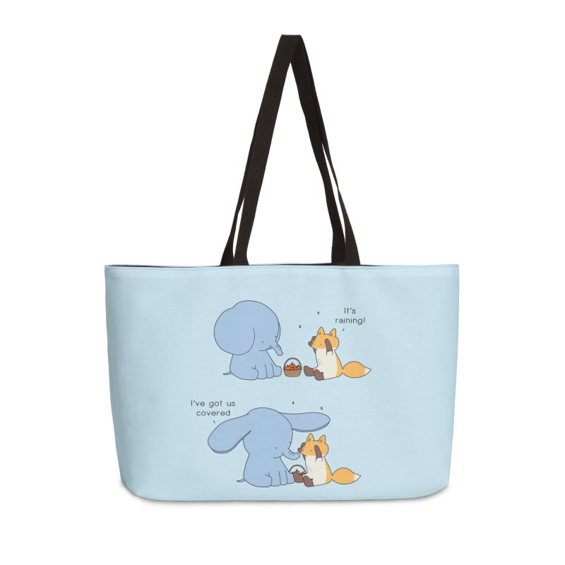 Got Us Covered Accessories Weekender Bag Bag by Jangandfox's Artist Shop