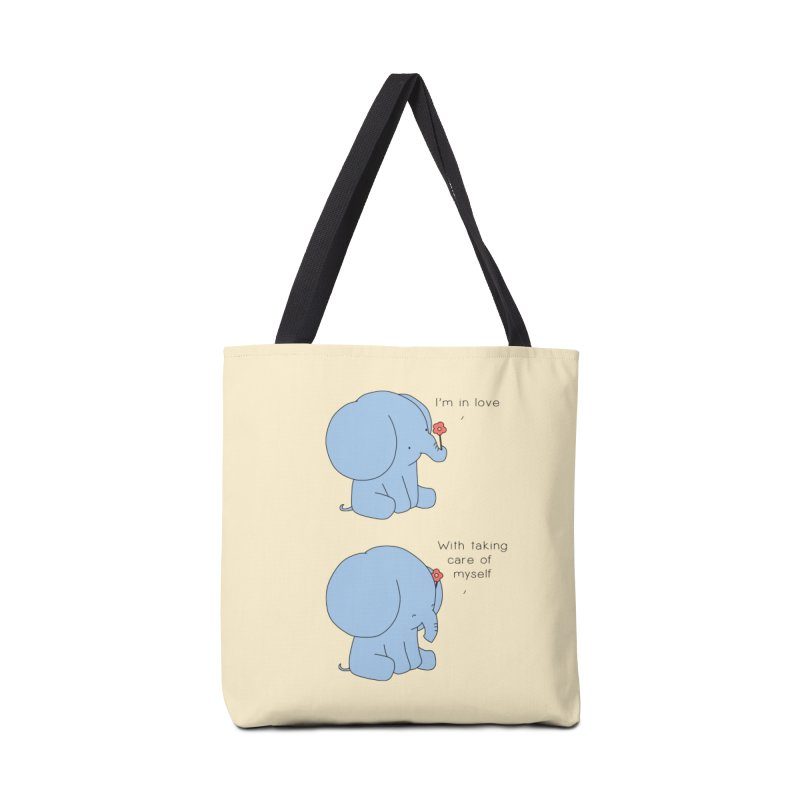 In Love with Myself Accessories Tote Bag Bag by Jangandfox's Artist Shop