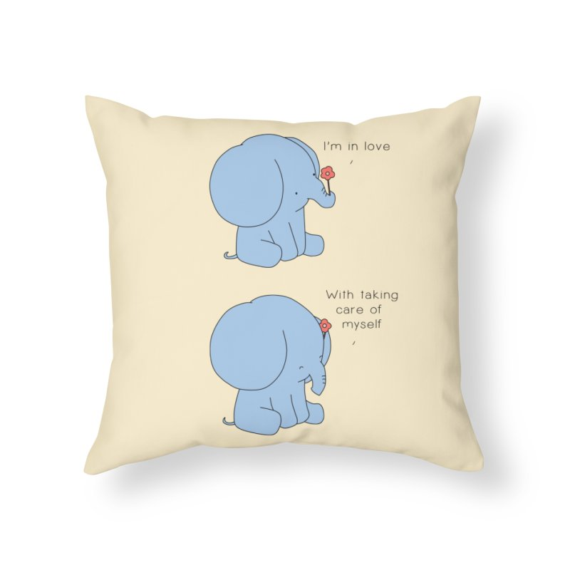 In Love with Myself Home Throw Pillow by Jangandfox's Artist Shop
