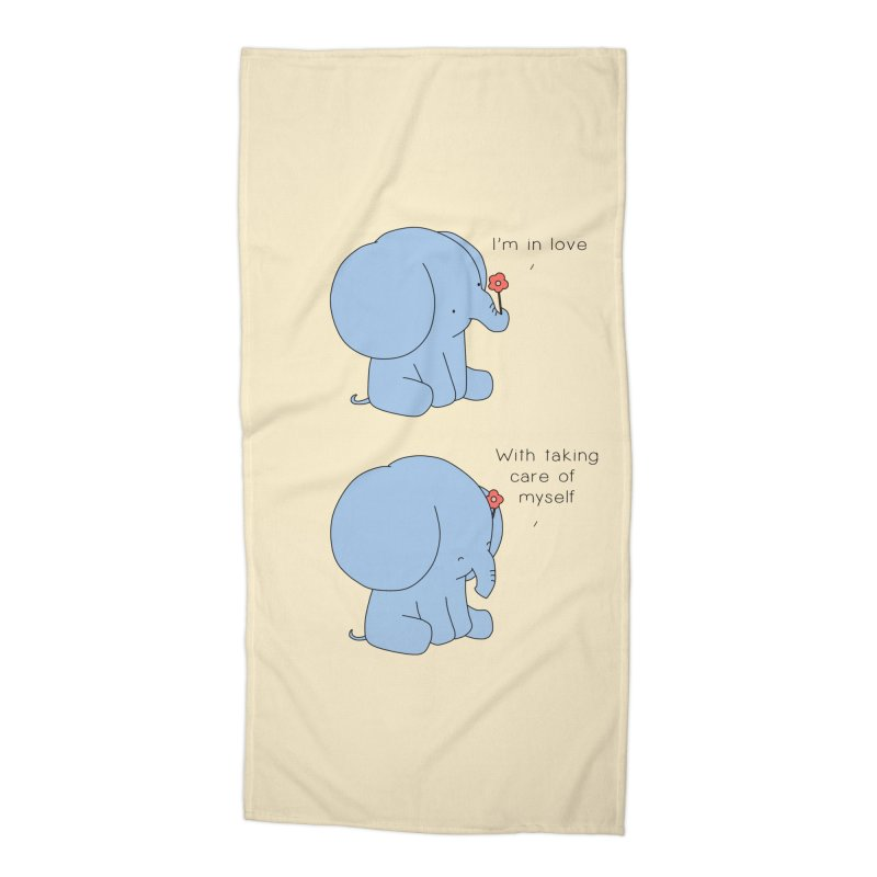 In Love with Myself Accessories Beach Towel by Jangandfox's Artist Shop
