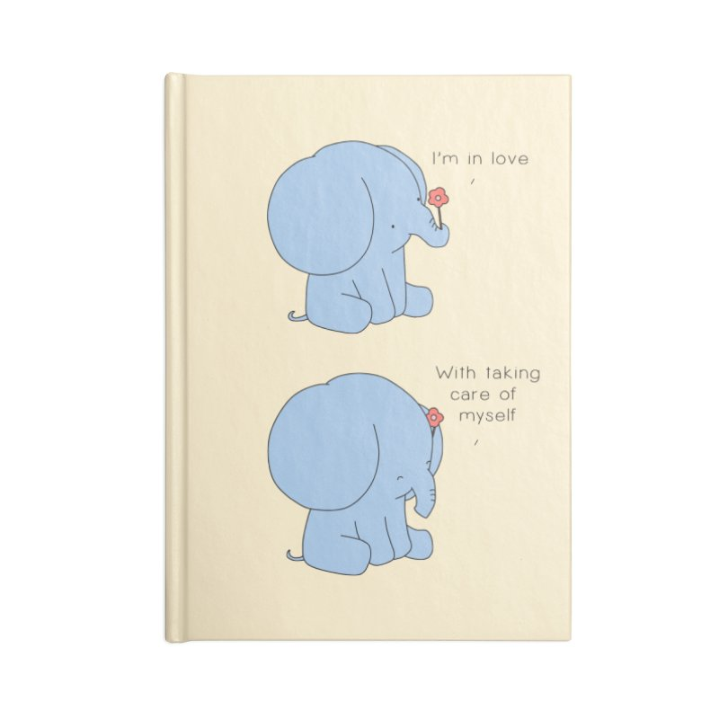 In Love with Myself Accessories Lined Journal Notebook by Jangandfox's Artist Shop