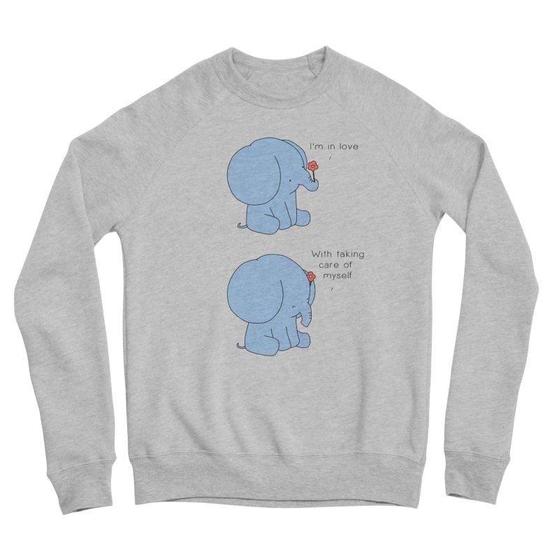 In Love with Myself Men's Sponge Fleece Sweatshirt by Jangandfox's Artist Shop