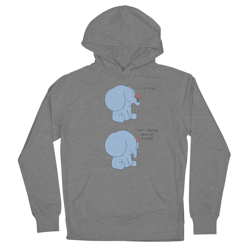 In Love with Myself Men's French Terry Pullover Hoody by Jangandfox's Artist Shop
