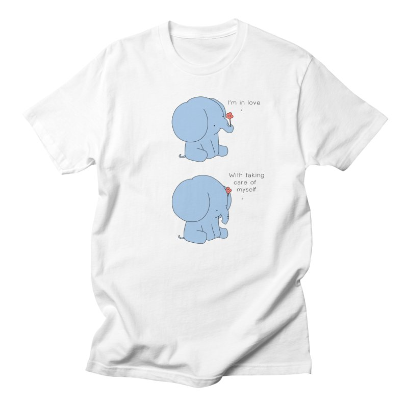 In Love with Myself Men's Regular T-Shirt by Jangandfox's Artist Shop