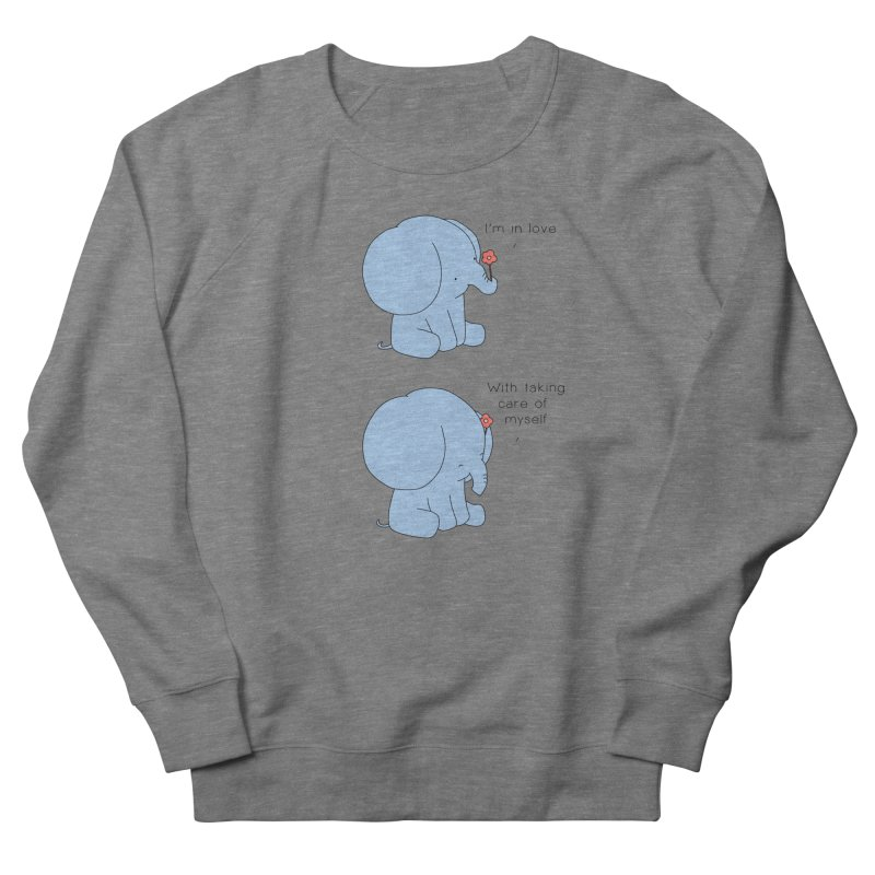 In Love with Myself Women's French Terry Sweatshirt by Jangandfox's Artist Shop