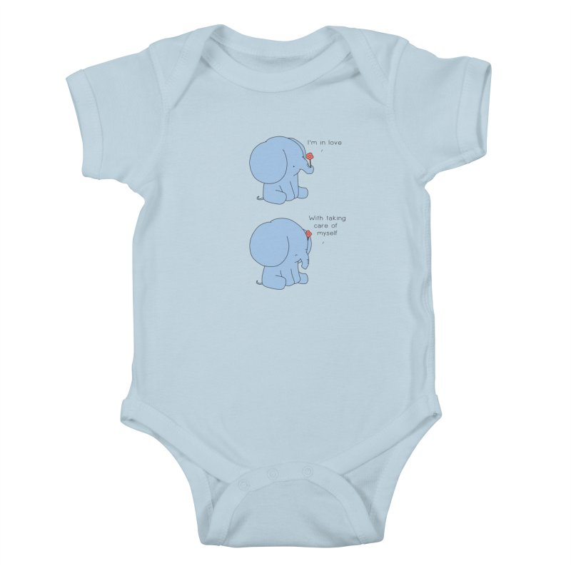In Love with Myself Kids Baby Bodysuit by Jangandfox's Artist Shop