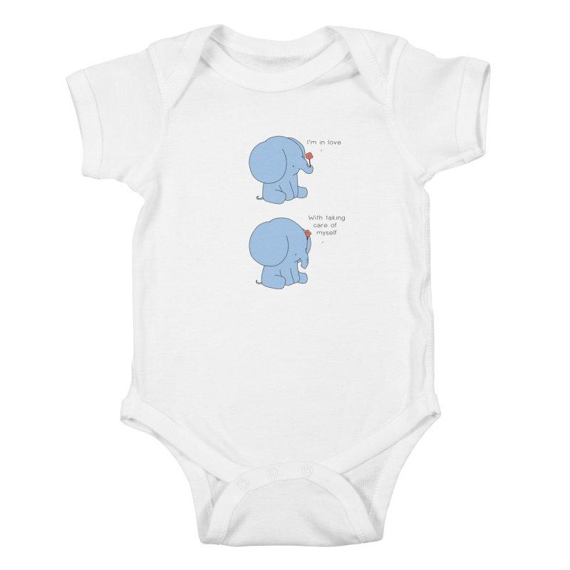 In Love with Myself Kids Baby Bodysuit by Jangandfox's Artist Shop