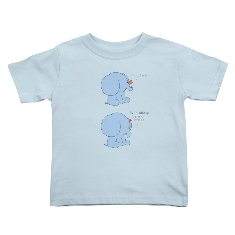 In Love with Myself Kids Toddler T-Shirt by Jangandfox's Artist Shop