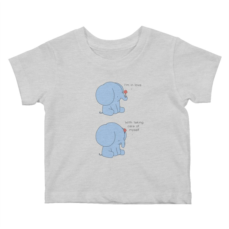 In Love with Myself Kids Baby T-Shirt by Jangandfox's Artist Shop