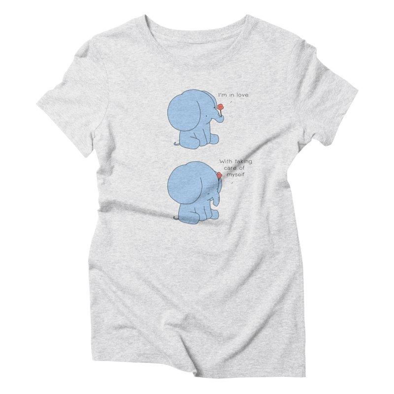 In Love with Myself Women's T-Shirt by Jangandfox x Threadless Artist Shop