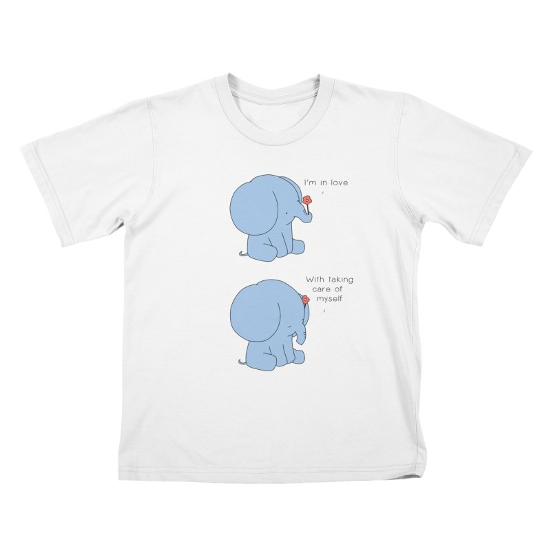 In Love with Myself Kids T-Shirt by Jangandfox's Artist Shop