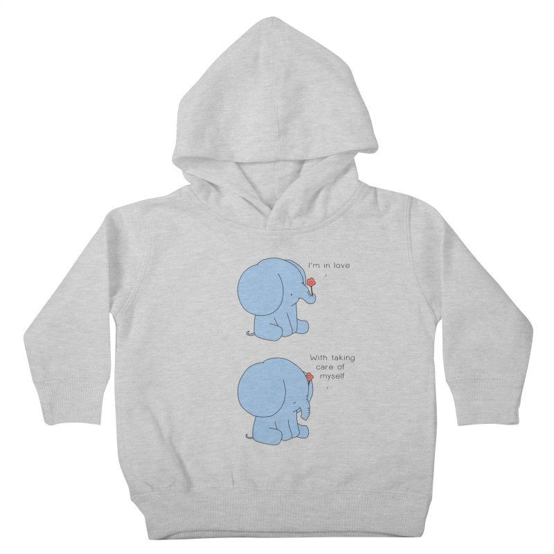 In Love with Myself Kids Toddler Pullover Hoody by Jangandfox's Artist Shop