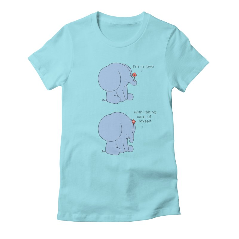 In Love with Myself Women's Fitted T-Shirt by Jangandfox's Artist Shop