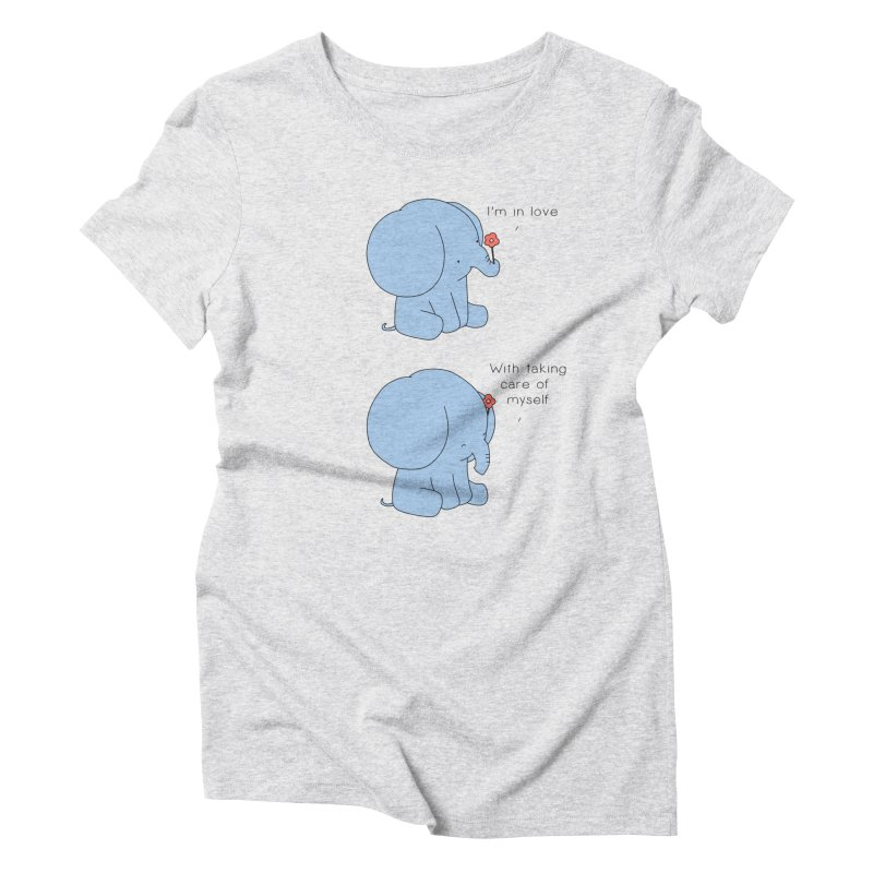 In Love with Myself Women's Triblend T-Shirt by Jangandfox's Artist Shop