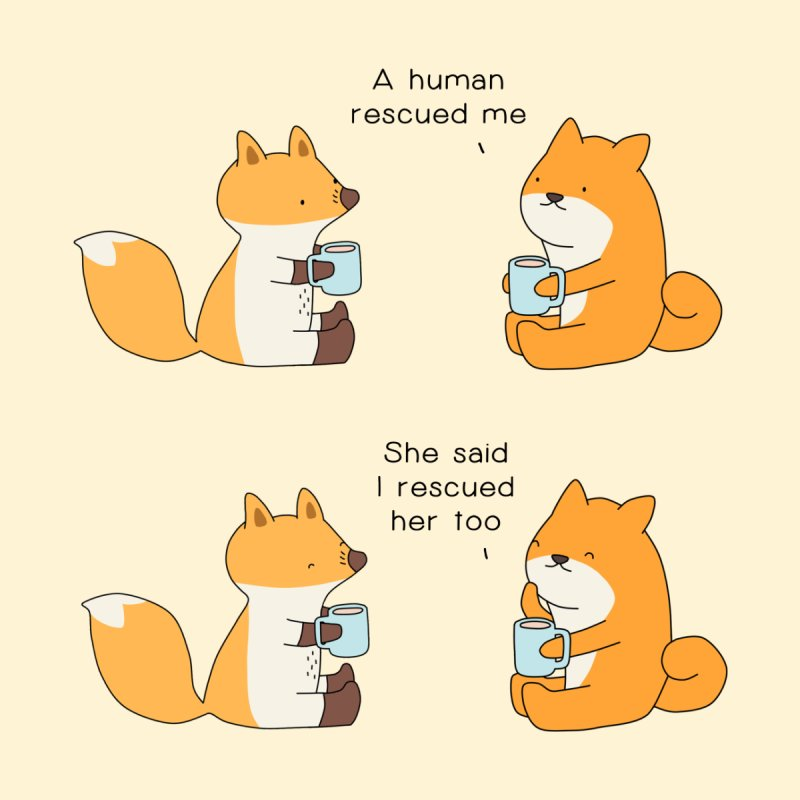 Rescued Accessories Magnet by Jangandfox's Artist Shop