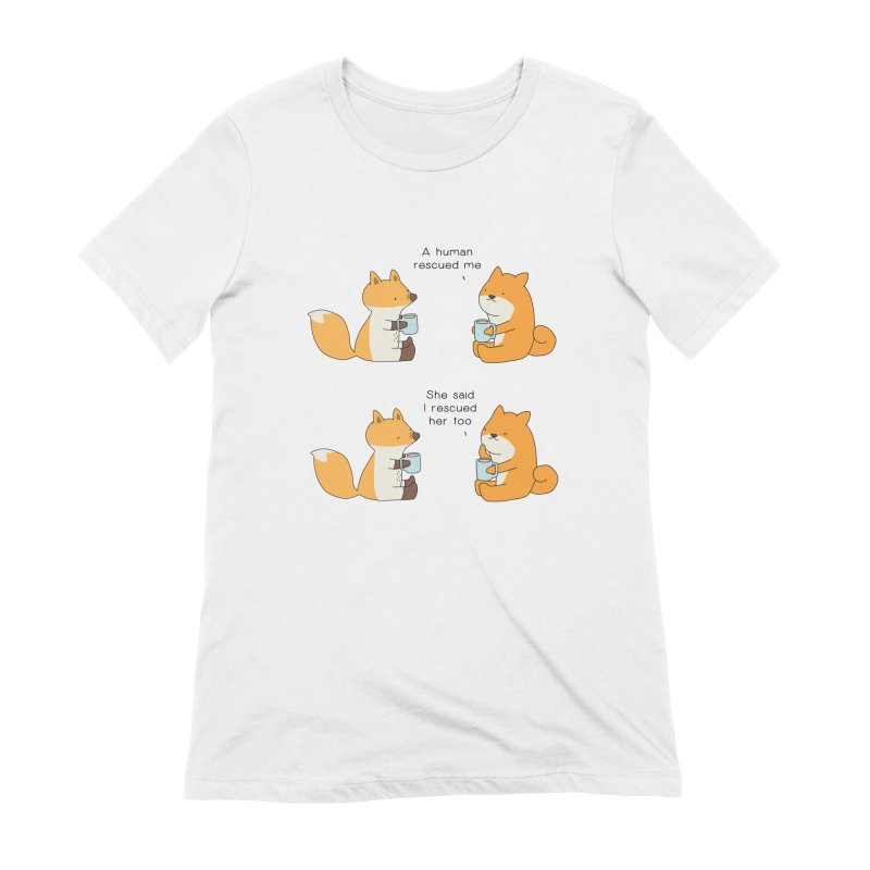 Rescued Women's Extra Soft T-Shirt by Jangandfox's Artist Shop