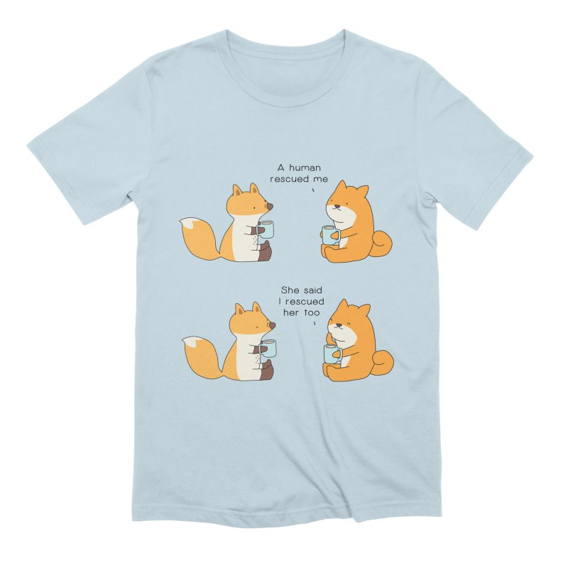 Rescued Men's Extra Soft T-Shirt by Jangandfox's Artist Shop