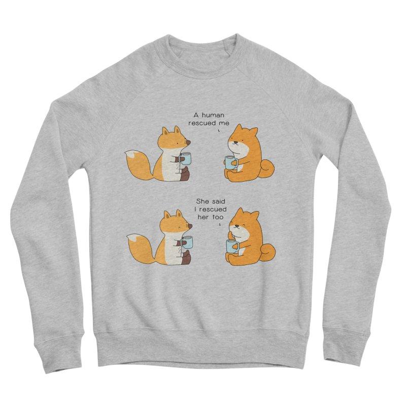 Rescued Men's Sponge Fleece Sweatshirt by Jangandfox's Artist Shop