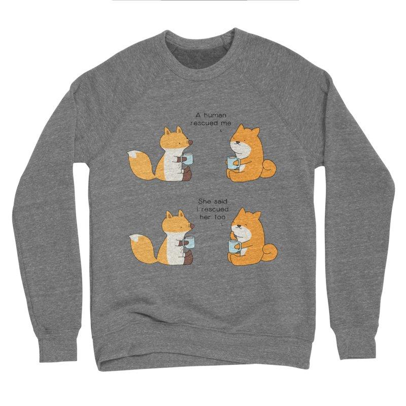 Rescued Men's Sweatshirt by Jangandfox's Artist Shop