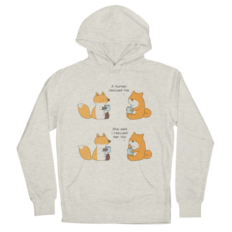 Rescued Women's French Terry Pullover Hoody by Jangandfox's Artist Shop