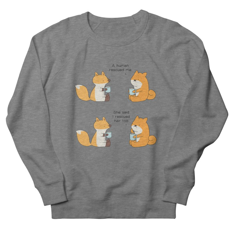 Rescued Women's French Terry Sweatshirt by Jangandfox's Artist Shop