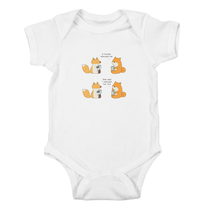 Rescued Kids Baby Bodysuit by Jangandfox's Artist Shop
