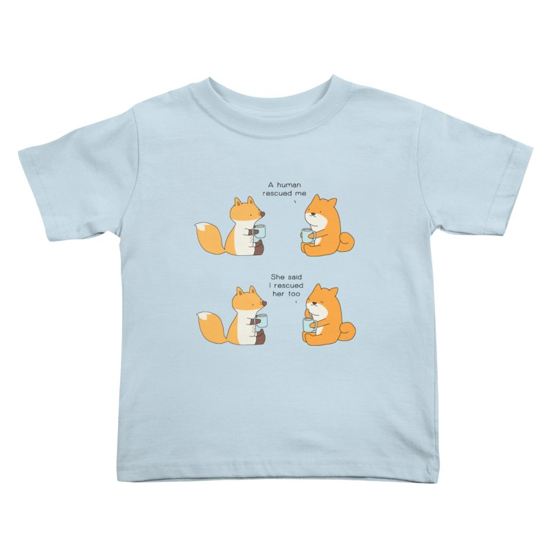 Rescued Kids Toddler T-Shirt by Jangandfox's Artist Shop