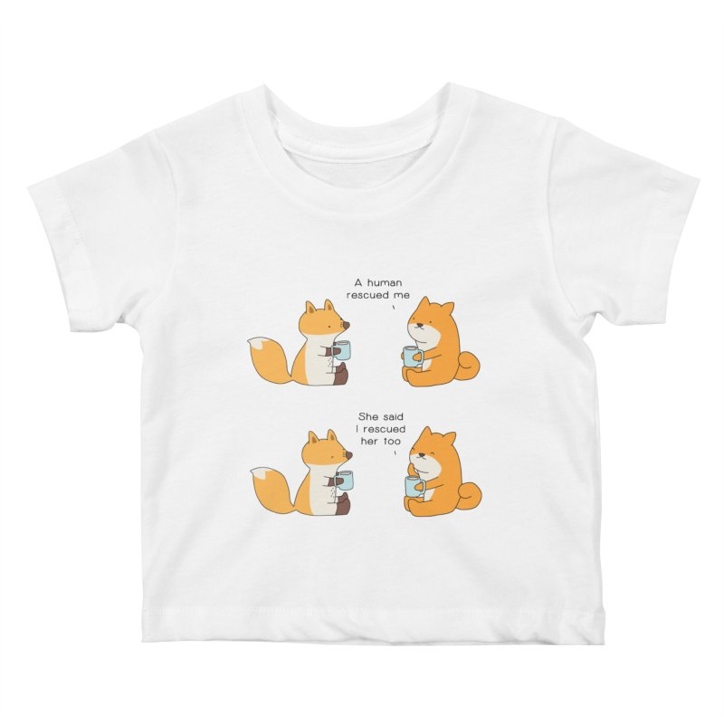 Rescued Kids Baby T-Shirt by Jangandfox's Artist Shop