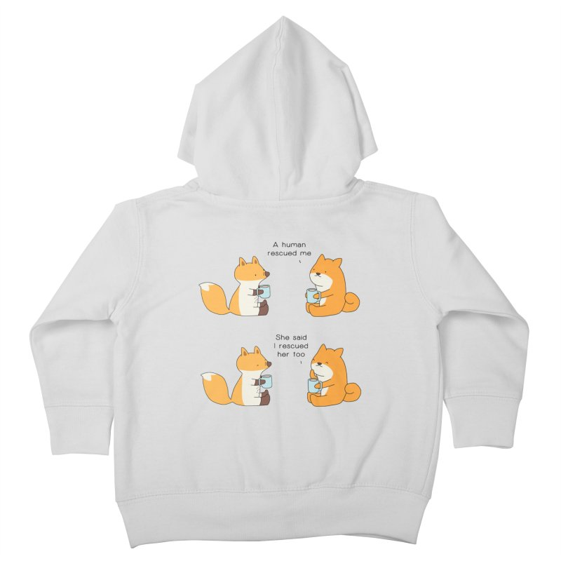 Rescued Kids Toddler Zip-Up Hoody by Jangandfox's Artist Shop