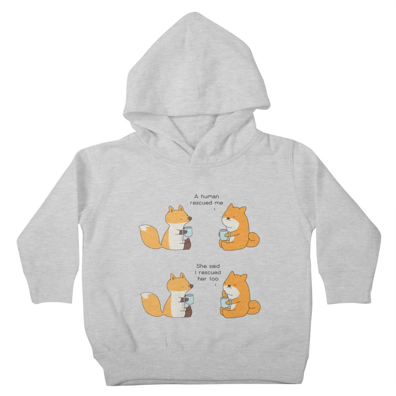 Rescued Kids Toddler Pullover Hoody by Jangandfox's Artist Shop