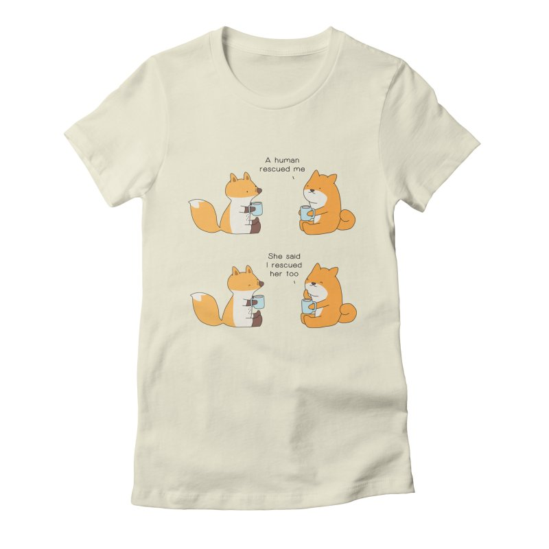 Rescued Women's Fitted T-Shirt by Jangandfox's Artist Shop