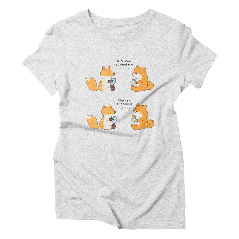 Rescued Women's Triblend T-Shirt by Jangandfox's Artist Shop