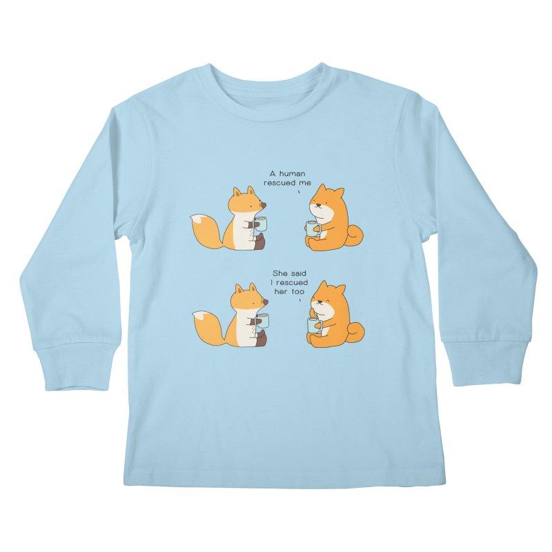 Rescued Kids Longsleeve T-Shirt by Jangandfox's Artist Shop
