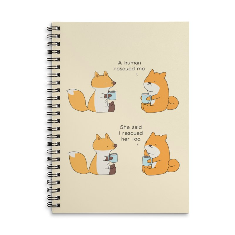 Rescued Accessories Lined Spiral Notebook by Jangandfox's Artist Shop