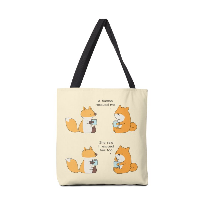 Rescued Accessories Tote Bag Bag by Jangandfox's Artist Shop