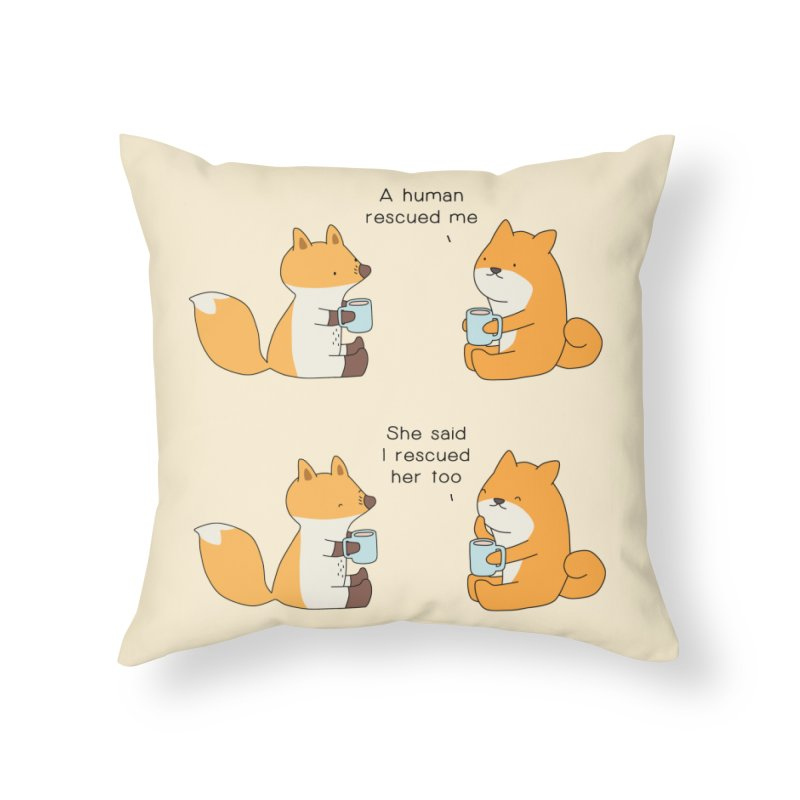Rescued Home Throw Pillow by Jangandfox's Artist Shop