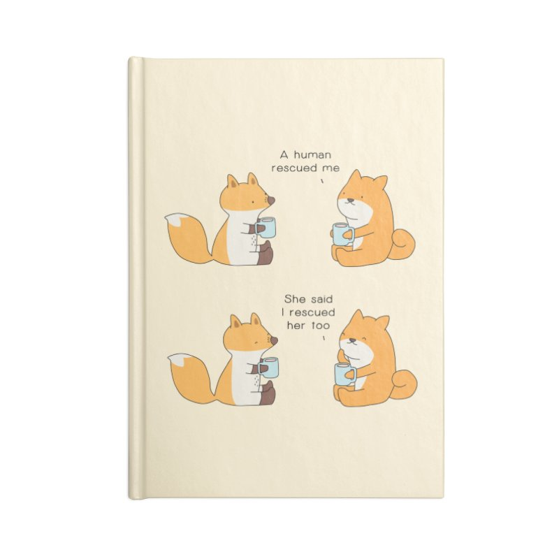 Rescued Accessories Lined Journal Notebook by Jangandfox's Artist Shop