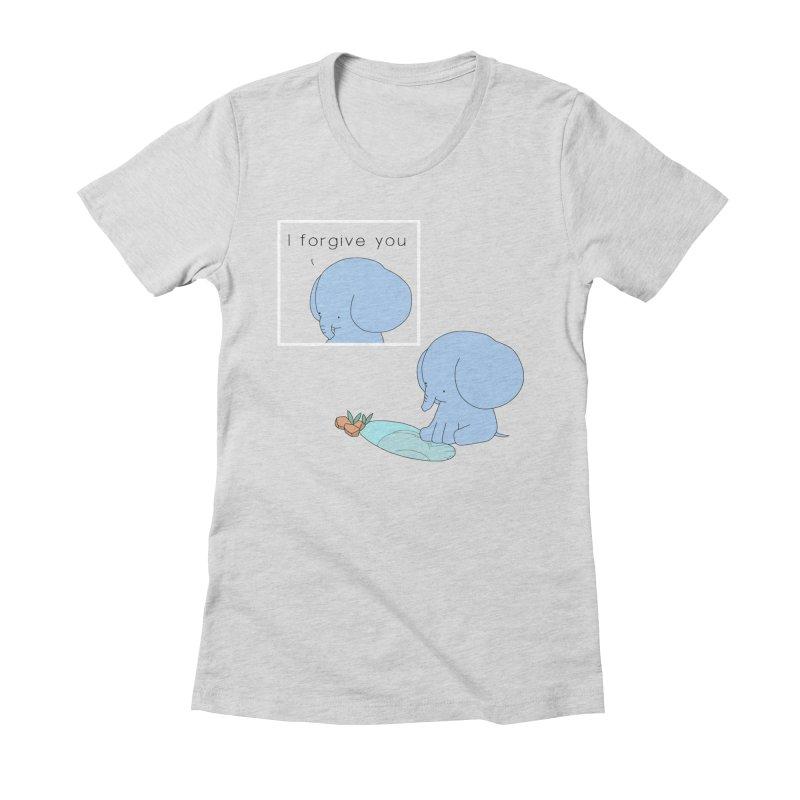 Forgive Women's Fitted T-Shirt by Jangandfox's Artist Shop