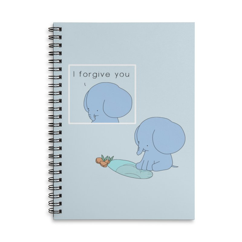 Forgive Accessories Lined Spiral Notebook by Jangandfox's Artist Shop