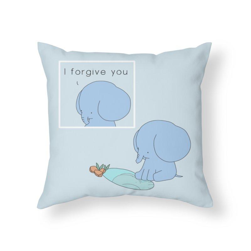 Forgive Home Throw Pillow by Jangandfox's Artist Shop