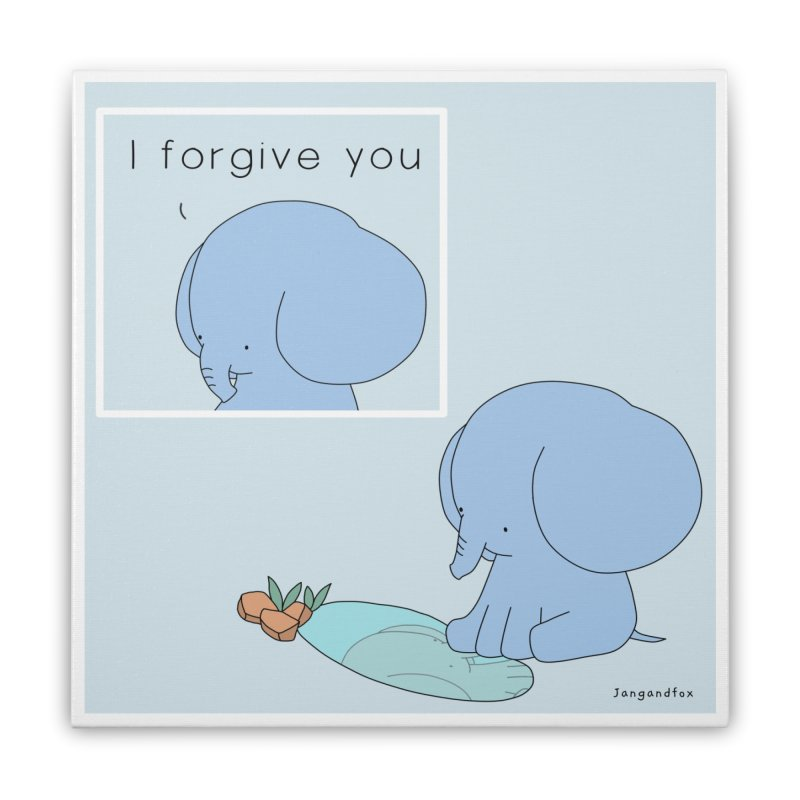 Forgive Home Stretched Canvas by Jangandfox's Artist Shop