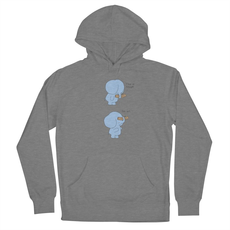 Tough Men's French Terry Pullover Hoody by Jangandfox's Artist Shop